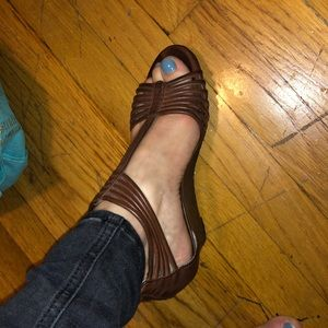Style&co brown leather sandals